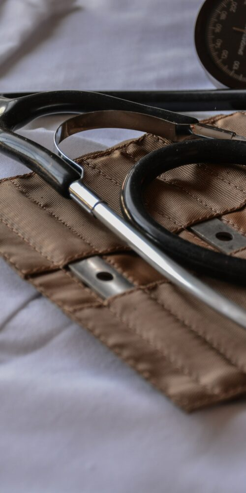 stethoscope and arm cuff